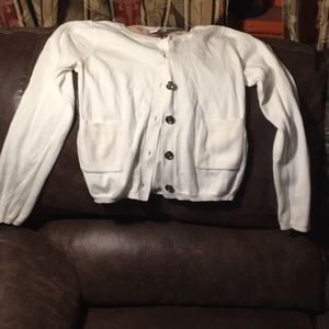 Girls used burberry cardigan in good condition